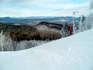Many of Gore Mountain's trails feature vistas of the Adirondack High Peaks off to the north.