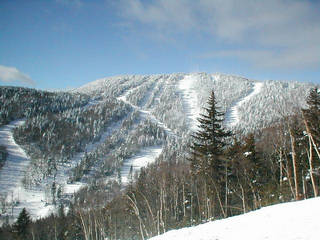 The summit area surrounding Gore Mountain's Straightbrook Quad.