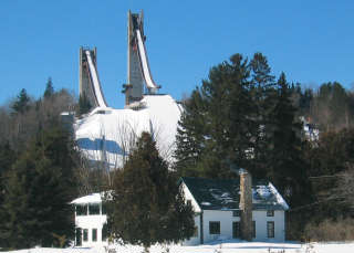 Lake Placid's Olympic ski jumps. (photo: First Tracks!! Online/Marc Guido)
