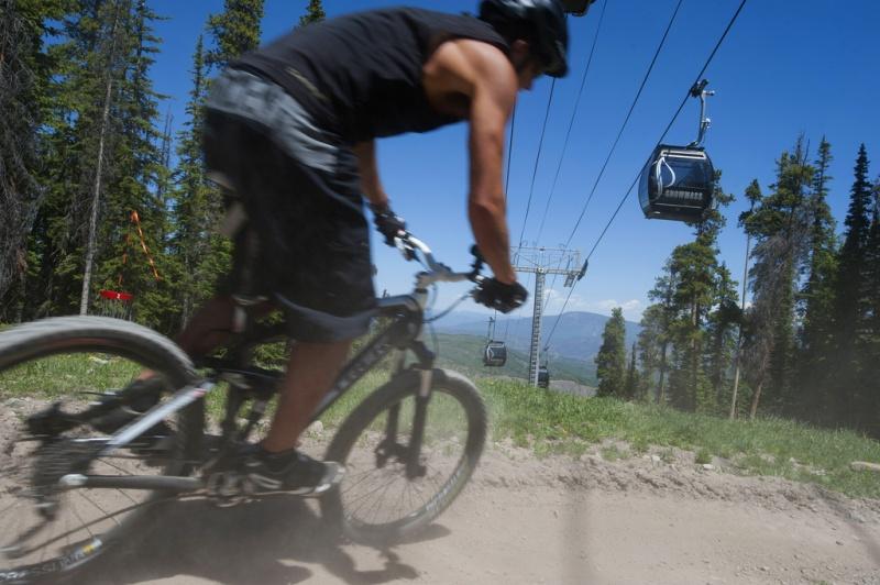 Mountain biking at Snowmass, Colo. (file photo: Dan Bayer)