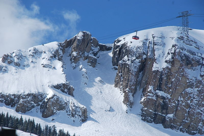 Jackson Hole Mountain Resort is renowned for its expert terrain, including Corbet's Couloir pictured here.