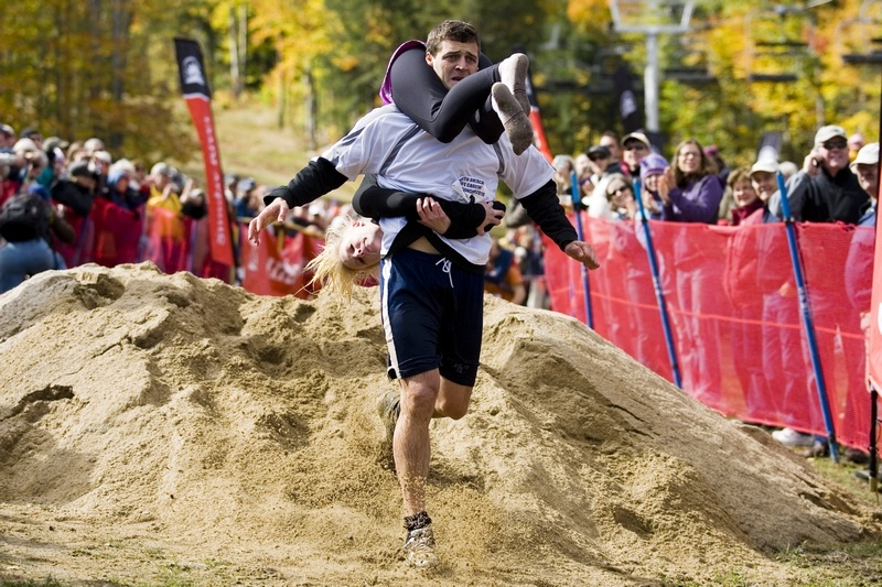 National Wife Carrying Championship Returns to Maine's Sunday River