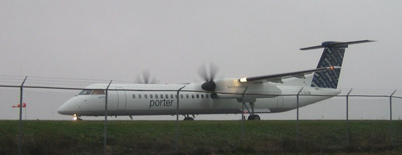 Porter Airlines resumes its ski season service between Toronto, Canada and Burlington, Vt. this Sunday. (photo: Airplane yow)