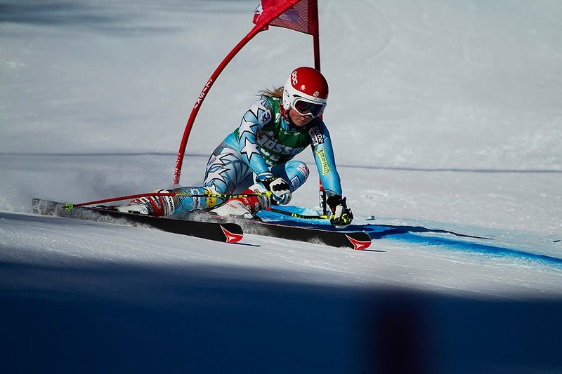 16-year-old Mikaela Shiffrin, of Vail, Colo., competes in women's giant slalom in Lienz, Austria (photo: Kevin Pritchard)