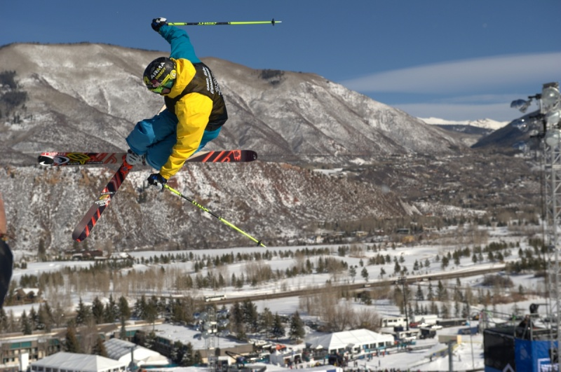 David Wise, of Reno, Nev.,competes in the Men's Ski SuperPipe Final during Winter X Games Aspen 2012. (file photo: Allen Kee / ESPN Images)