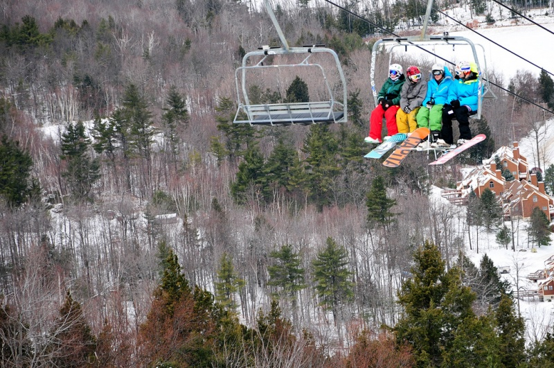 Crotched Mountain's existing Summit Chair will be replaced this summer with southern New Hampshire's first detachable quad lift. (photo: Crotched Mountain)