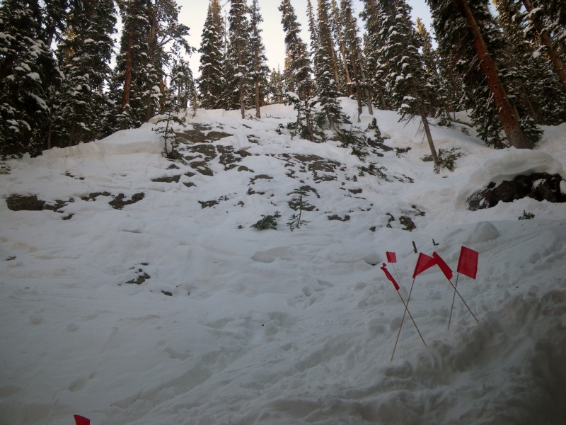 The in-bounds avalanche at Winter Park that killed Christopher Norris, of Evergreen, Colo., on January 22. (photo: CAIC)