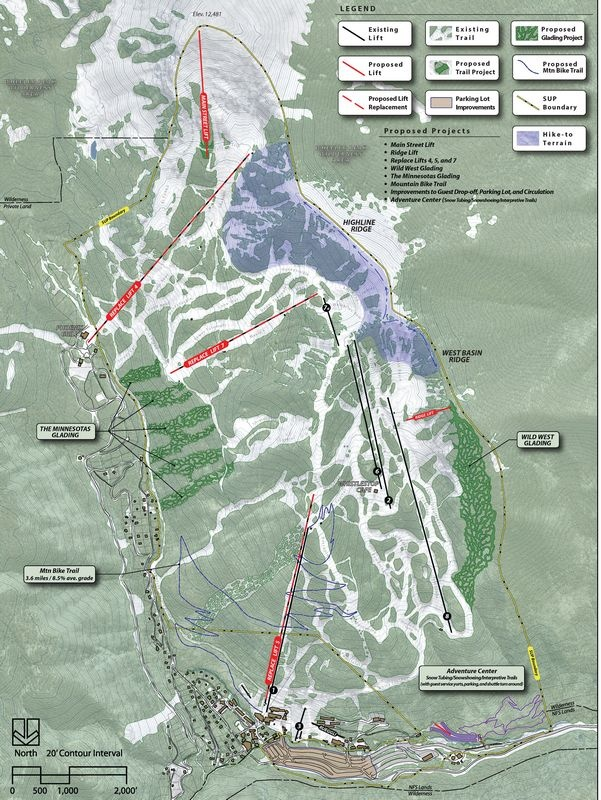 A map of Taos Ski Valley's 2010 Master Development Plan (image: TSV)
