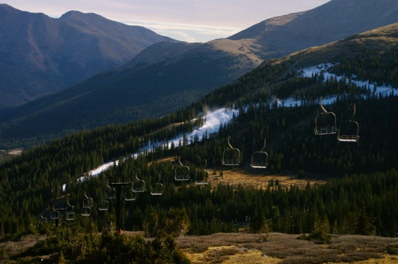 Loveland Ski Area has a 1,000 vertical-foot run ready to greet anxious early season Colorado skiers and riders when it opens on Tuesday. (photo: Loveland Ski Area)