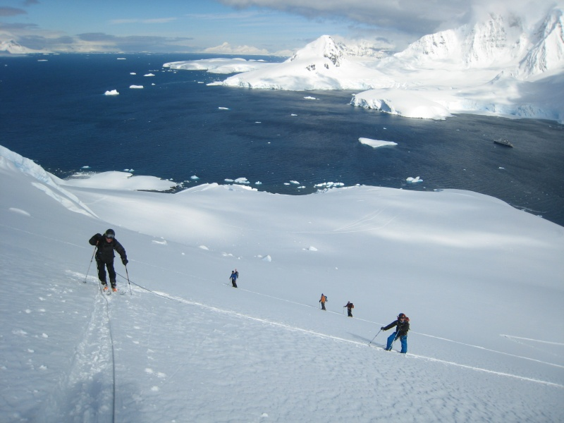 Sales of alpine touring gear are blossoming, according to a report released this week by SIA. (location: Chiriguano Bay, Brabant Island, Antarctica; photo: FTO/Tony Crocker)