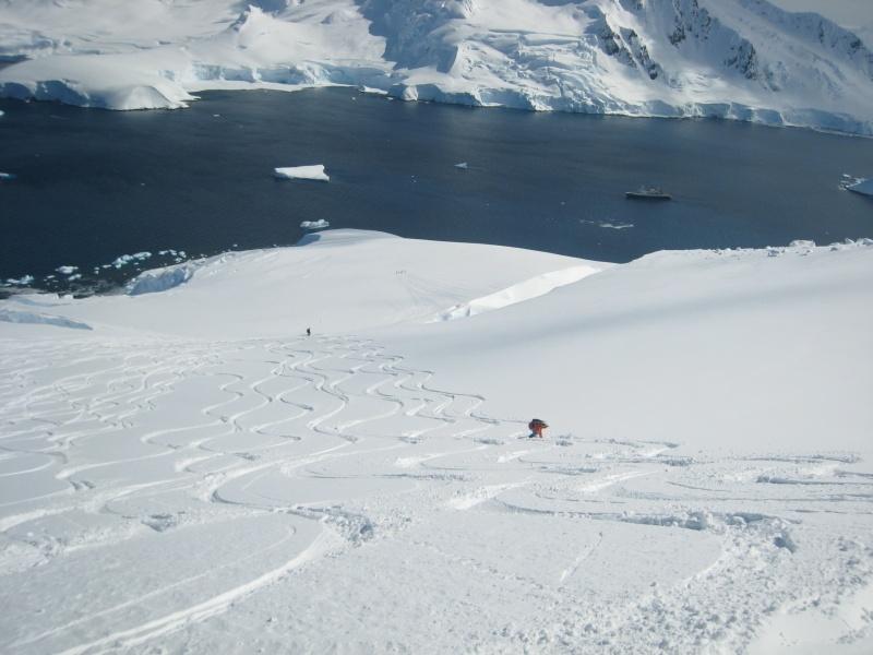 Skiing at Chiriguano Bay, Brabant Island, Antarctica (photo: FTO/Tony Crocker)