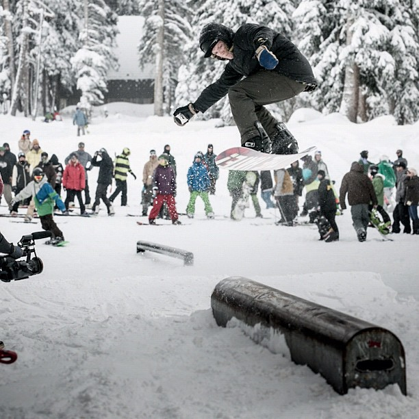 Jibbers were out in full force at Brighton on Saturday (photo courtesy: Brighton Resort)