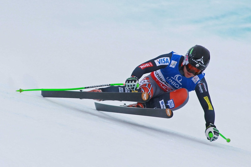 Andrew Weibrecht, of Lake Placid, N.Y., races down the course during the 2013 Alpine FIS Ski World Championships downhill in Schladming, Austria. (photo: Mitchell Gunn/ESPA)