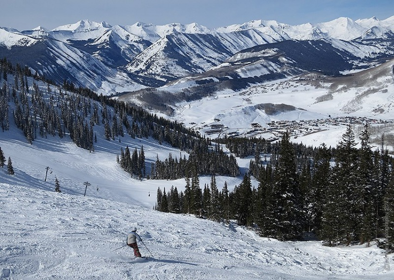 A rebound in snowfall resulted in a rebound in skier visits across the U.S. in 2012-13. (photo: Rob Pennie; location: Crested Butte Mountain Resort, Colo.)