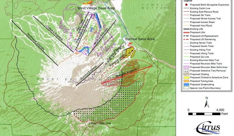 Changes planned under Mt. Bachelor's Master Development Plan approved by the U.S. Forest Service this week (image obtained via USFS)