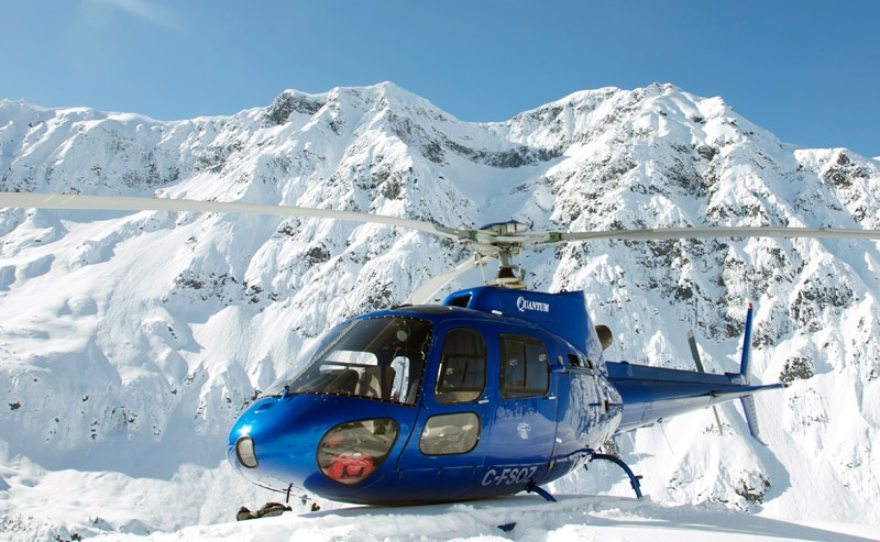 Your private A-Star chariot awaits. (photo: Northern Escape Heli-Skiing)