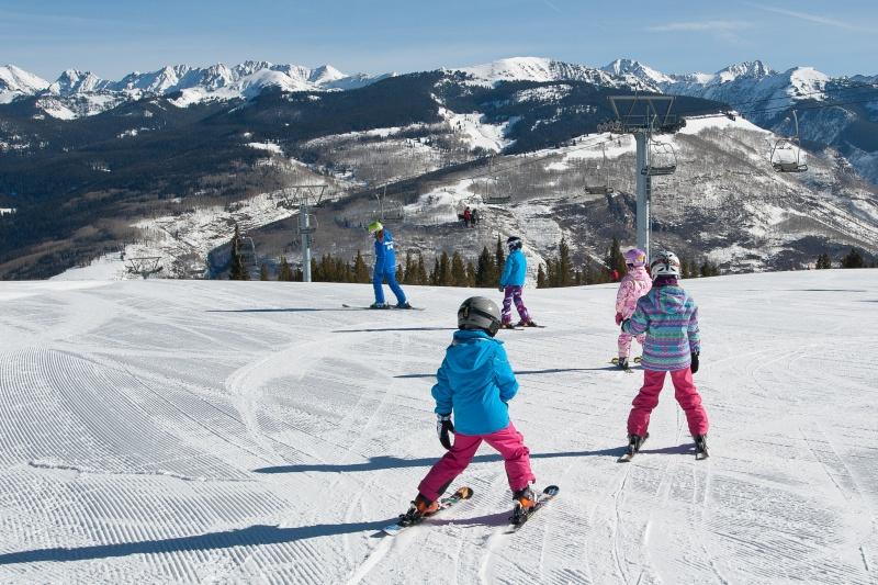 Children learn to ski at Vail Mountain in Colorado. (file photo: Dan Davis)