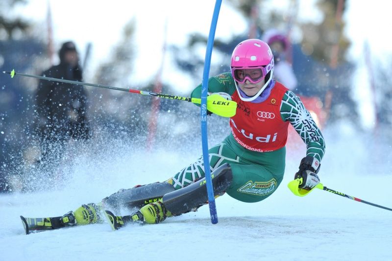 Eli Terwiel in action at the Canadian National Championships (photo: Alpine Canada)