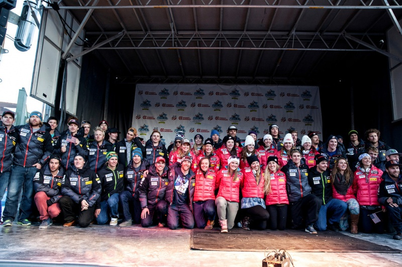 The 2013-14 U.S. Alpine Ski Team at last year's's naming ceremony at Copper Mountain, Colo. (photo: Sarah Brunson/USSA)