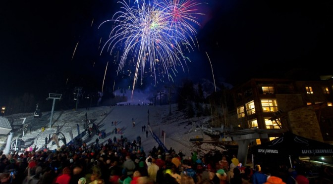 Fireworks light up the night sky during the Aspen Winternational World Cup ski races in 2012. (file photo: ASC)