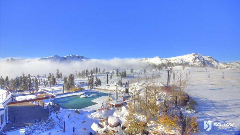 """9"""" of new snow was reported at Squaw Valley, Calif. on Sunday (photo: Squaw Valley)"""