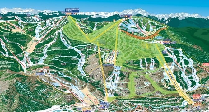 Vail to Open Over 500 Acres | First Tracks!! Online Ski Magazine Vail Ski Resort Map on