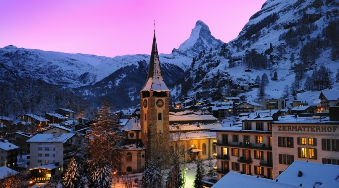 The village of Zermatt, Switzerland. (photo: Leander Wenger)