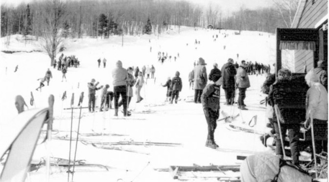 Mt. Eustis in its heyday. (photo courtesy New England Ski Museum)