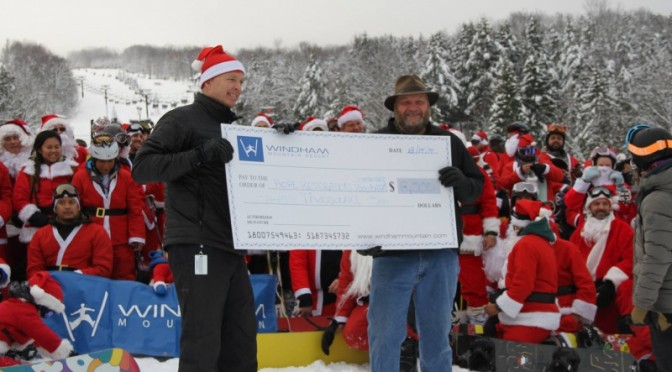 Santa Raises Money at Windham