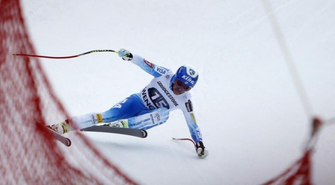 Jared Goldberg takes 19th in the downhill, and 15th overall in Friday's World Cup combined in Wengen, Switzerland. (photo: Getty Images-Agence Zoom/Alexis Boichard/courtesy USST)