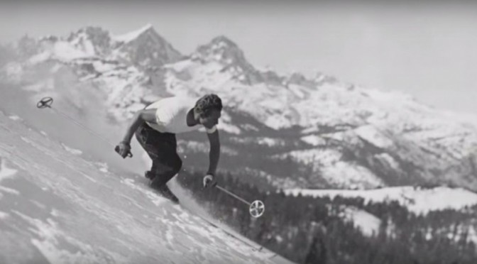 Founder Dave McCoy skis Mammoth Mountain in the early years (image: MMSA)
