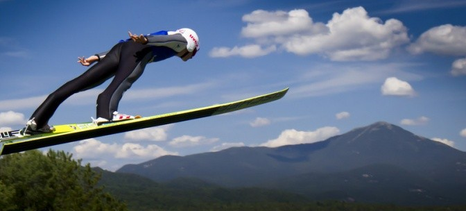The U.S. Ski Jumping Championships return to Lake Placid, N.Y., Oct. 10-11. (file photo: ORDA)