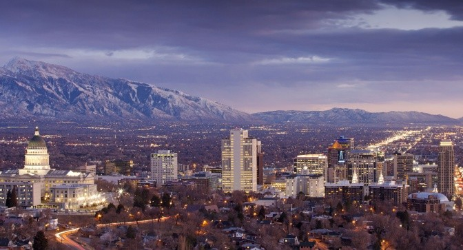 Salt Lake City and the Wasatch Mountains. (file photo: Adam Barker)