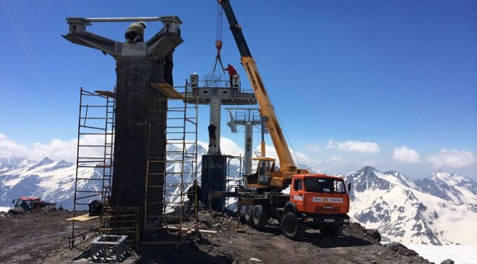 Russia Builds Europe's Highest Ski Lift