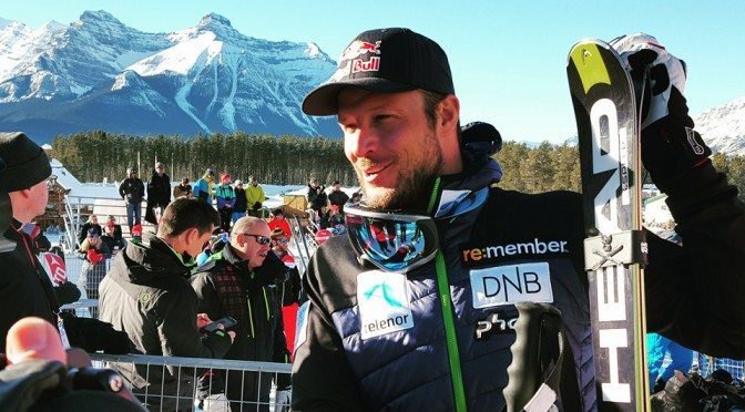 Norway's Aksel Lund Svindal makes it two in a row at Lake Louise, Canada on Sunday. (photo: FIS)