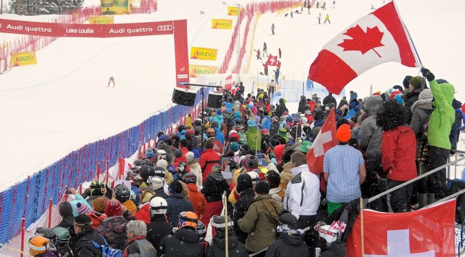 Canadian crowds cheer on their heroes at Lake Louise in 2011. (file photo: Peak Photography/ACA)