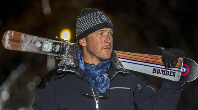 Bode Miller poses with Bomber skis in 2015 in Portillo, Chile. (file photo: Jonathan Selkowitz)