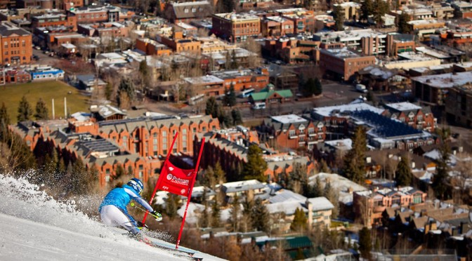 Colorado's Mikaela Shiffrin rips some GS turns on the Nature Valley Aspen Winternational race hill during training in 2012. (file photo: Jeremy Swanson, Aspen/Snowmass)