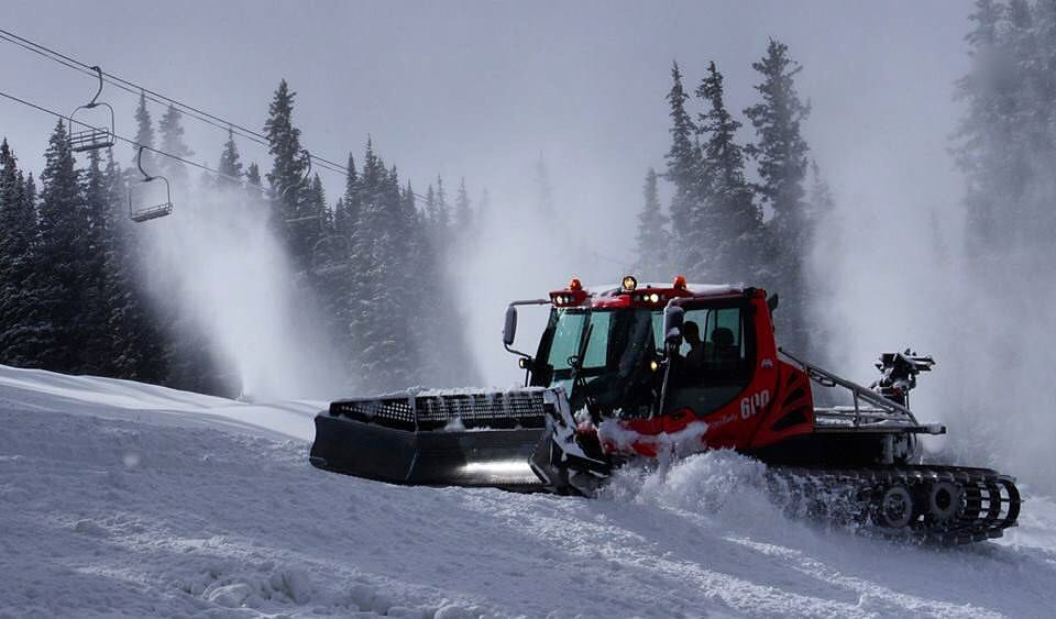 Snowmaking and grooming got the Lower Richards run added to Loveland's trail count for the weekend. (photo: Loveland Ski Area)