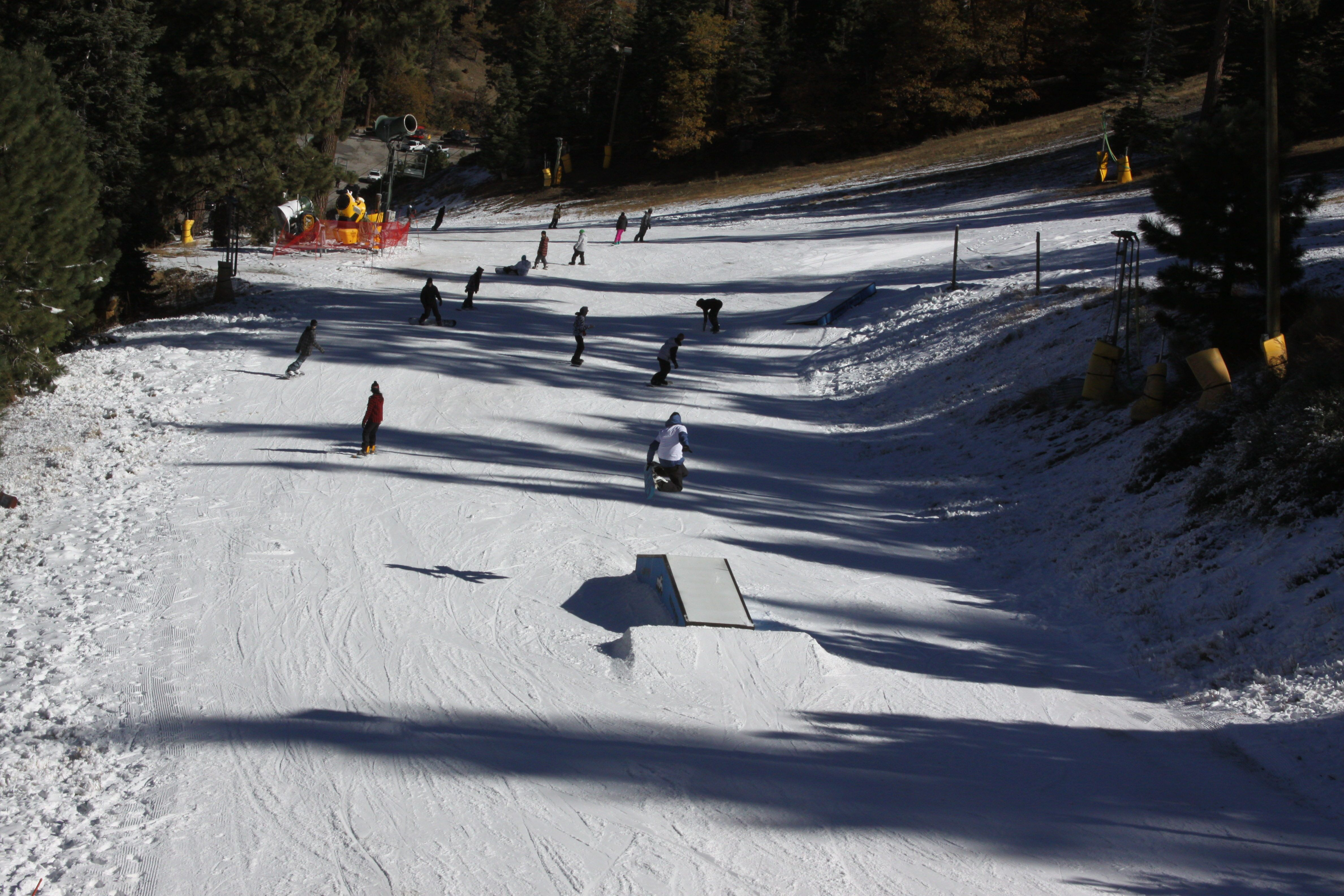 Southern California even got in on the act at Mountain High Resort in Wrightwood. (photo: Mountain High Resort)