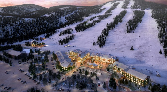 An artist's rendering of Cranmore's Master Plan. (image: Cranmore Mountain Resort)