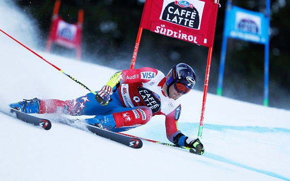 Tim Jitloff, of Reno, Nev., put down a solid second run to finish seventh in Sunday's World Cup giant slalom in Alta Badia, Italy. (photo: Getty Images/Agence Zoom-Alexis Boichard via USST)