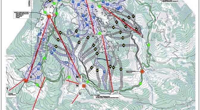 The master plan for Garibaldi at Squamish.