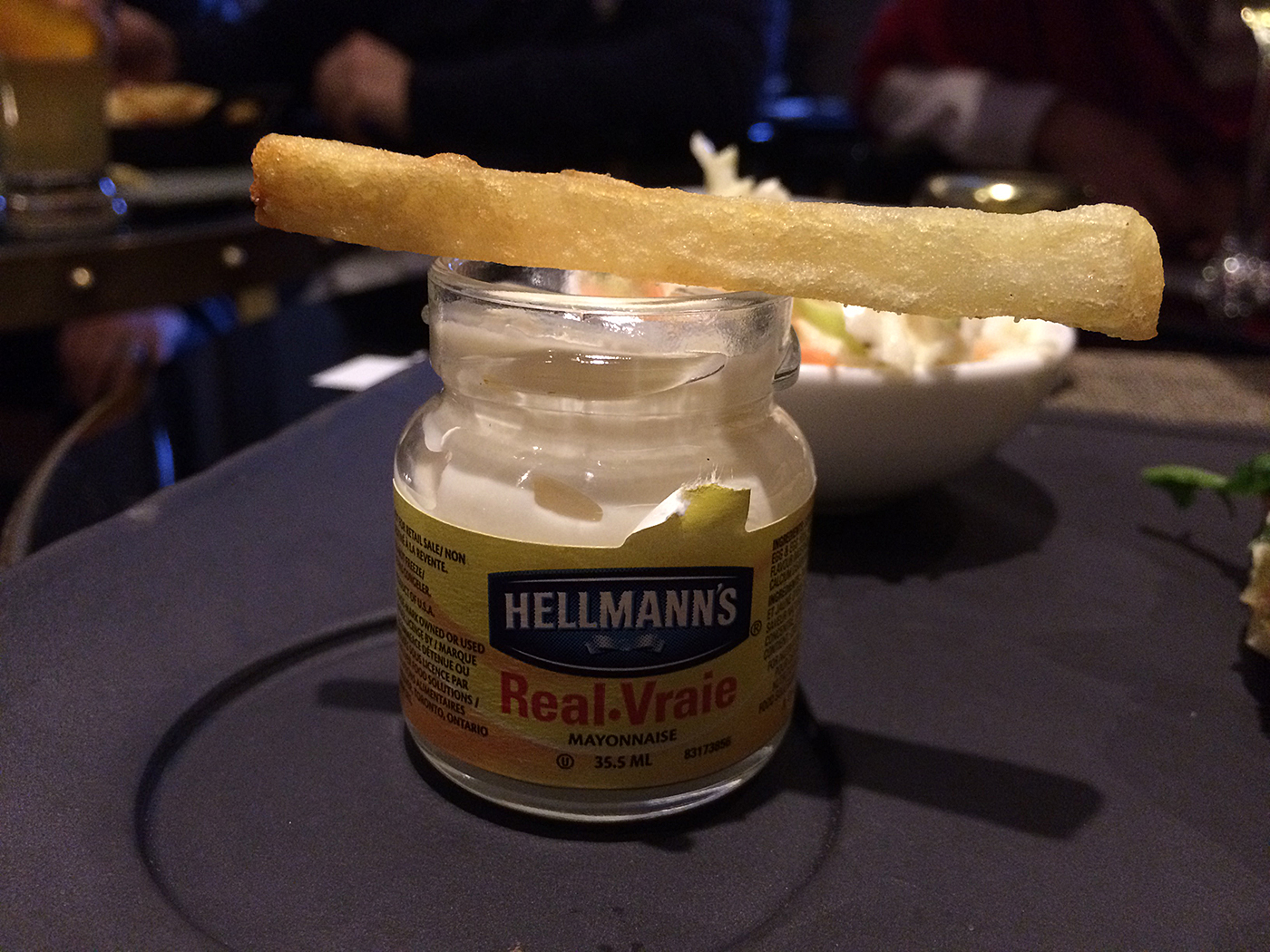 At the Château Frontenac the French fries are served with little jars of mayonnaise.Talk about class ... (Photo: FTO/Martin Griff)