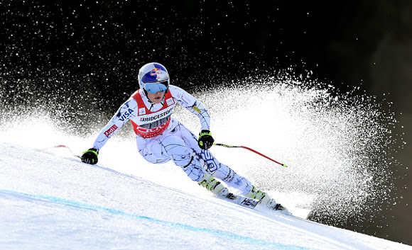 Lindsey Vonn grabbed her 76th career victory at the Audi FIS Alpine Ski World Cup in Garmisch-Partenkirchen, Germany on Saturday. (photo: Getty Images/Agence Zoom-Christof Stache)