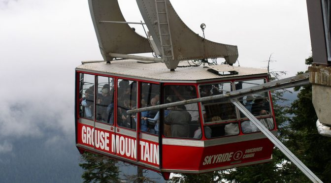 Grouse Mountain's Red Skyride (file photo: Tawker)