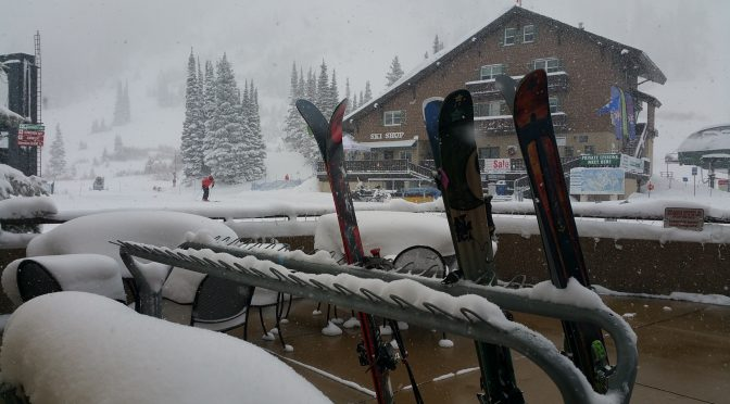 Early-season snowstorms, such as this on on Dec. 16, 2015 at Alta Ski Area, helped to drive record skier visits in Utah last winter. (file photo: FTO/Marc Guido)