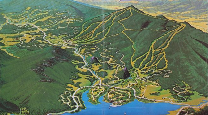 The original Woodmoor Corp. vision for Stagecoach Ski Area in Colorado. (image: Stagecoach Community Plan/Routt County)