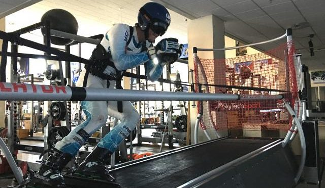 The ski simulator at the USSA Center of Excellence in Park City, Utah. (photo: USSA)