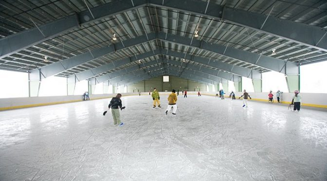 The Ice House skating rink at Okemo. (file photo: Okemo Mountain Resort)